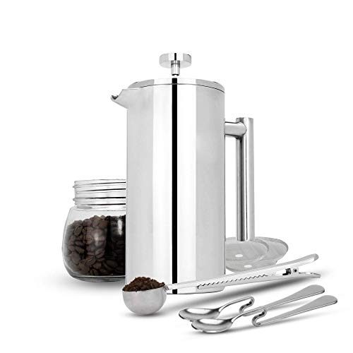 Einige Produktdetails im Fokus: Die Maison & White French Press